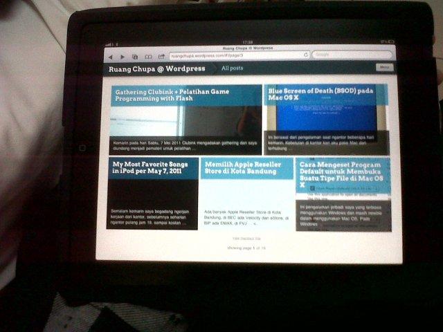 Ruang Chupa on iPad