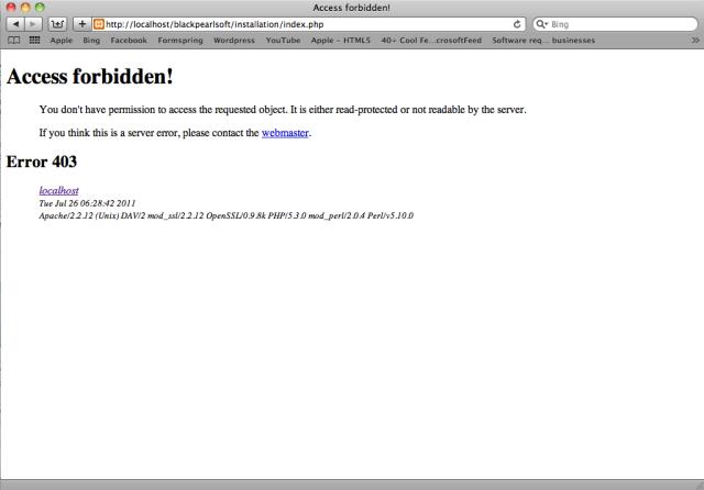 Error 403: Access Forbidden