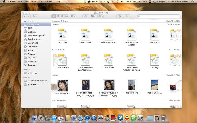 Finder di Mac OS X Lion
