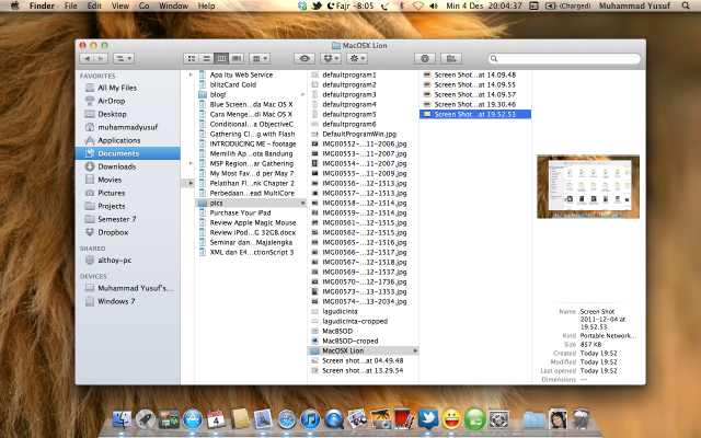 Finder di Mac OS X