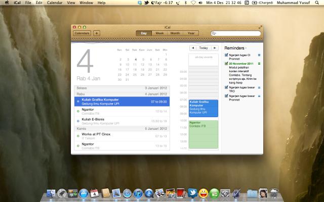 iCal pada Mac OS X Lion